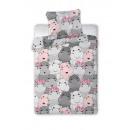 Baby bedding 135x100 40x60 hippo coton