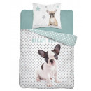 Bedding 140x200 70x80 coton youth dog