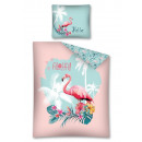 Flamingo bedding for youth 140x200 coton
