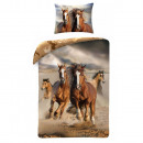 wholesale Home & Living: bed linen youth  140x200 70x90 coton HORSE