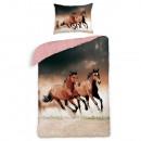 Großhandel Bettwäsche & Matratzen: Bettwäsche Pferde  140x200 70x90 100% Baumwolle