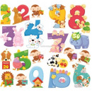 wholesale Wall Tattoos: Wall decorations Numbers Animals