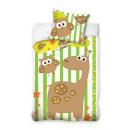 Großhandel Bettwäsche & Matratzen: Bettwäsche Giraffe 100/135 + 40/60 01