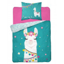 Bedding 140x200 70x80 coton youth lama