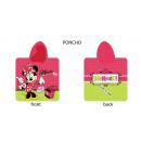 grossiste Articles sous Licence: Poncho Disney  120x80 100% coton Minnie Souris