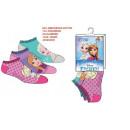 Foot Socks frozen 23-34 3 pack green