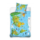 bed linen Youth Map 140x200 70x80