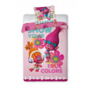 Trolls bed linen 160x200 70x80 coton 100% new