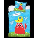 Großhandel Bettwäsche & Matratzen: Bettwäsche CAT auf  der Wiese 160x200 70x80 Baumwol
