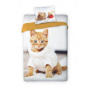 wholesale Haberdashery & Sewing: Youth Bedding BF cat 140x200 70x80 coton