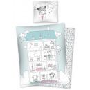Großhandel Spielzeug: Bettwäsche Haus Cottage 160x200 70x80 100% Baumwol