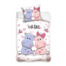 U & Me bed linen hippopotamus 140x200 70x80 co
