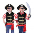 Pirate costume  accessories + 3-6 years