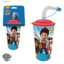 Glass mug with a Paw Patrol 3d tube