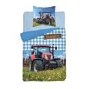 Bettwäsche 140x200 70x80 Baumwolle Jugendtraktor