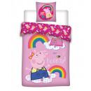 Ropa de cama para bebés 135x100 40x60 Peppa Pig al