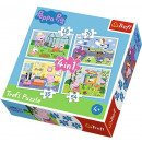 Puzzle 4w1 Peppa Pig - Vacation memories