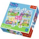 Puzzle 4w1 Peppa Pig - Urlaubserinnerungen