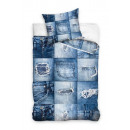 grossiste Vetements en jean: Literie pour adolescents jeans 140x200 70x80 coton