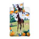 Großhandel Bettwäsche & Matratzen: Bettwäsche Animal  Planet Pferde 160/200 8016