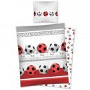 Großhandel Bälle & Schläger: Bettwäsche Jugend - Fußball 140x200 70x80 Baumwoll
