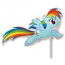 grossiste Articles de fête: Fleuret ballon 14   FX -  Dash Poneys Rainbow
