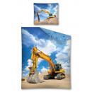 wholesale Bedlinen & Mattresses: Bedding 140x200 70x80 coton youth excavator