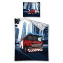 Großhandel Spielwaren: Jugendbettwäsche 140x200 70x80 Autoschutz