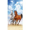 handdoek badstrand 140x70 katoen HORSES