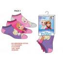 Foot Socks frozen 23-34 3 pack fiol