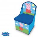 grossiste Meubles: Pouf avec boîte de  rangement pour les jouets Peppa