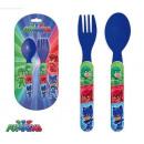 Plastic cutlery PJ masks 13.5 cm
