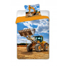 wholesale Coats & Jackets: BEDDING 140X200 + 70X90 COTTON 005 EXCAVATOR