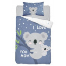 Ropa de cama para bebé oso koala 135x100 40x60 alg
