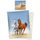 Großhandel Bettwäsche & Matratzen: Bettwäsche Pferd  Pferde 140x200 70x80 cm Baumwolle