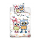 wholesale Home & Living: bed linen owl 140x200 70x80 coton