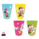 Großhandel Lizenzartikel: Plastikbecher Minnie 4szt Disney 280ml