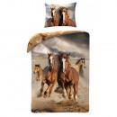 Bettwäsche Jugend Pferd, 140x200 70x90 Baumwolle