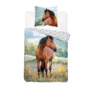 wholesale Household & Kitchen: Bedding 140x200 70x80 coton horse horse 3284