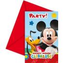 Verjaardag  uitnodigingen met envelop Mickey Mouse