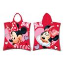 Poncho Minnie Love 50x115 coton