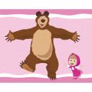 grossiste Coussins & Couvertures: couverture polaire  Macha et l'ours 120x150