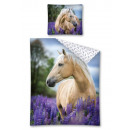 Youth bedding 140x200 70x80 horse lavender