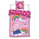Bedding 140x200 70x80 coton 100% peppa
