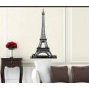 grossiste Stickers mureaux: Décoration murale 3D Tour Eiffel