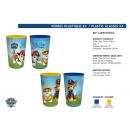 wholesale School Supplies: set of Paw Patrol  4x plastic glasses 280ml