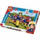 Puzzle Maxi 24 elements Quench the fire - Fireman