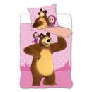 Bedding 140x200 70x80 coton Masha and the bear