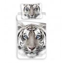 Ropa de cama de tigre 140x200 70x90 algodón blanco