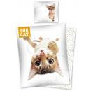 Großhandel Bettwäsche & Matratzen: Bettwäsche der  Katze 160x200 70x80 100% Baumwolle